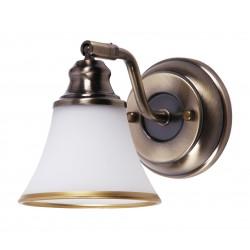 LAMPA DE PERETE BRONZ CU ABAJUR DE STICLA GRANDO 6545