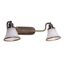 LAMPA DE PERETE DUBLA BRONZ CU ABAJUR DE STICLA GRANDO 6546