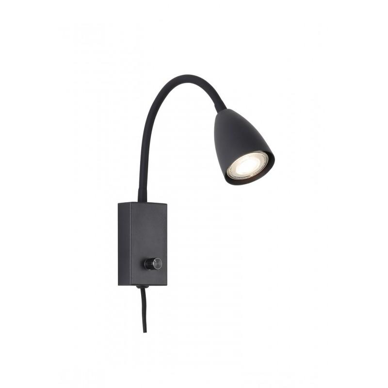 Lampa moderna metal negru si cablu cu teaca textila MIKA 6719 Rabalux