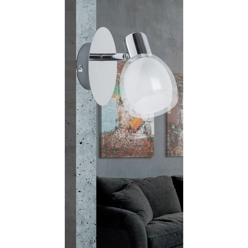 LAMPA SPOT DE PERETE STRUCTURA METALICA SI ABAJUR ALB DAVE 6835