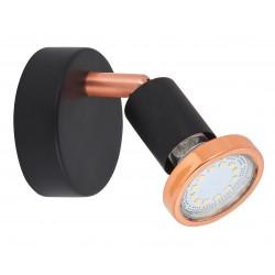 Lampa de perete LED metal negru mat/cupru VALENTINE 6846
