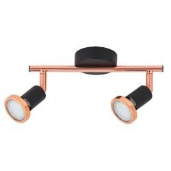 Lampa spot dubla LED metal negru mat VALENTINE 6847