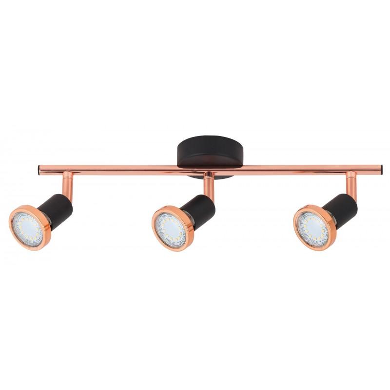 Lampa spot cu trei elemente LED metal negru mat  VALENTINE 6848