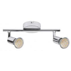 Lampa spot dubla metal cromat NORTON LED 6987