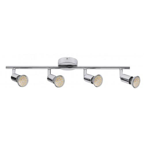Lampa spot cu patru elemente metal cromat NORTON LED 6988