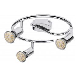 Plafoniera cu trei elemnete LED metal cromat NORTON LED 6989