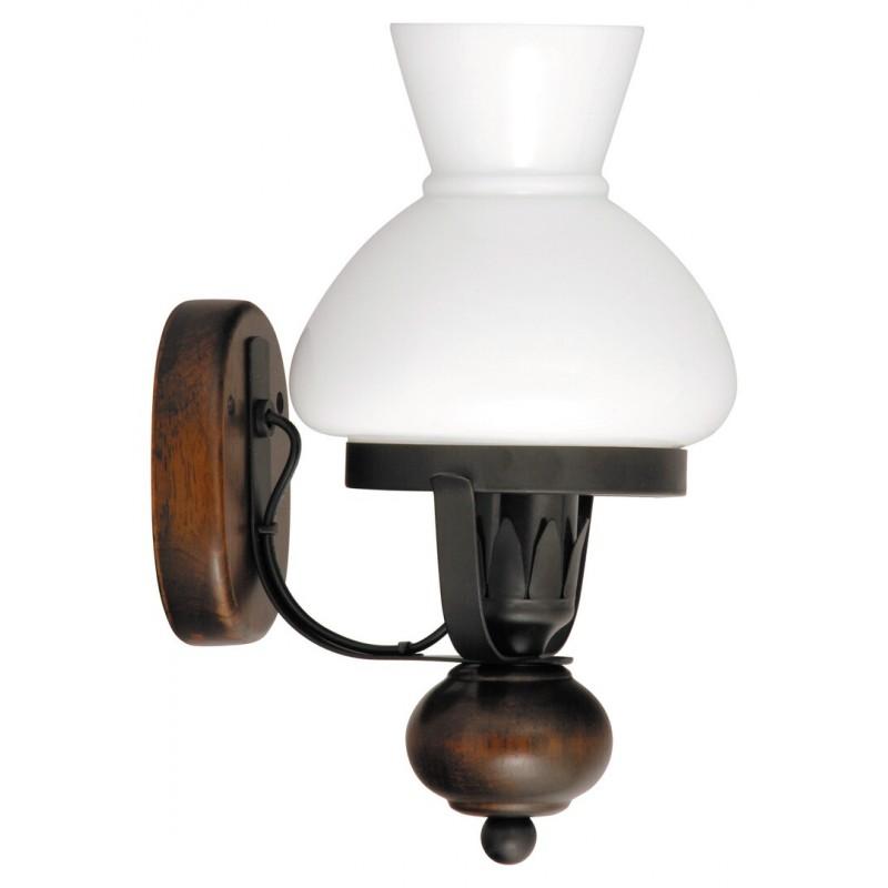 LAMPA DE PERETE NEGRU MAT CU ABAJUR DIN STICLA OPAL PETRONEL 7077 RABALUX