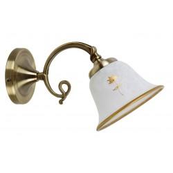 LAMPA DE PERETE CU ABAJUR DIN STICLA ALABASTRU ALB ART FLOWER 7171