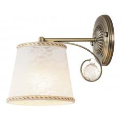 LAMPA DE PERETE METAL BRONZ CU ABAJUR ALB TEXTIL VALERIE 7290 RABALUX