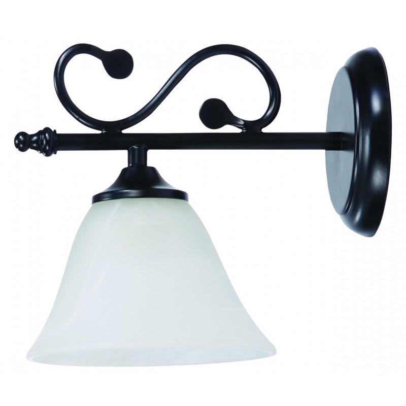 LAMPA DE PERETE METAL NEGRU MAT CU ABAJUR DIN STICLA DOROTHEA 7771