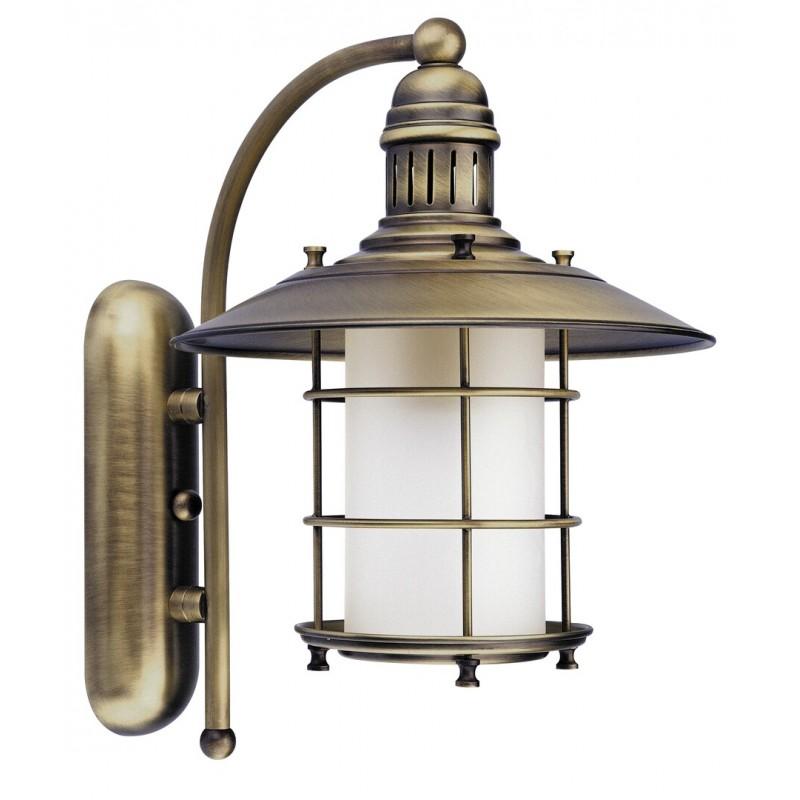 LAMPA DE PERETE PENTRU INTERIOR BRONZ CU ABAJUR DIN STICLA ALB SUDAN 7991
