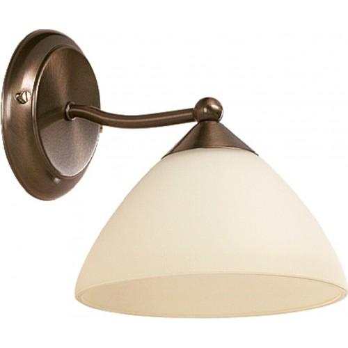 LAMPA DE PERETE METAL CU ABAJUR DIN STICLA CREM REGINA 8171