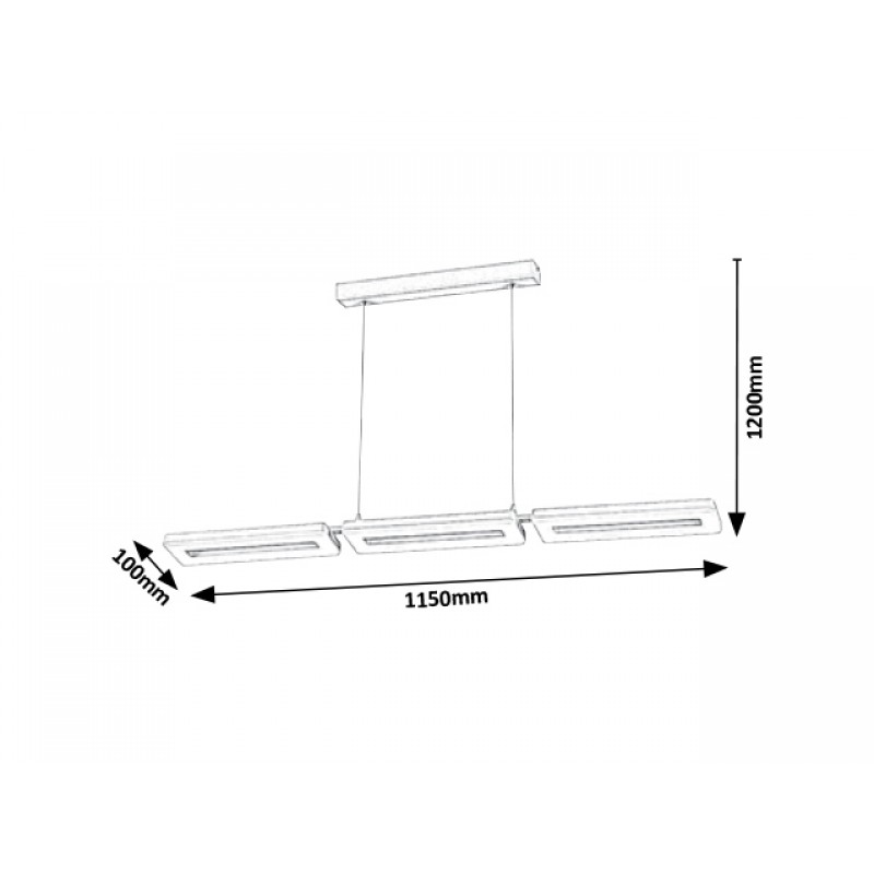 NOU!!! Suspensie Alana moderna cu LED si structura metalica 5649 Rabalux