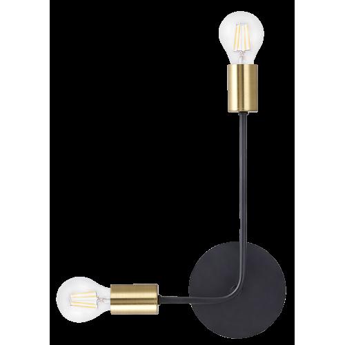 Aplica Lanny cu structura metalica finisaj negru si auriu  2102 Rabalux