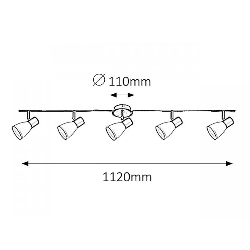 Plafoniera Ati moderna cu structura metalica 5980 Rabalux