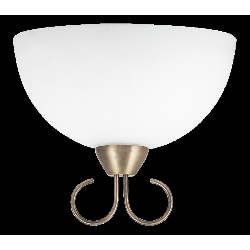 Aplica Aurelia cu structura metalica finisaj bronz si abajur din sticla 7137