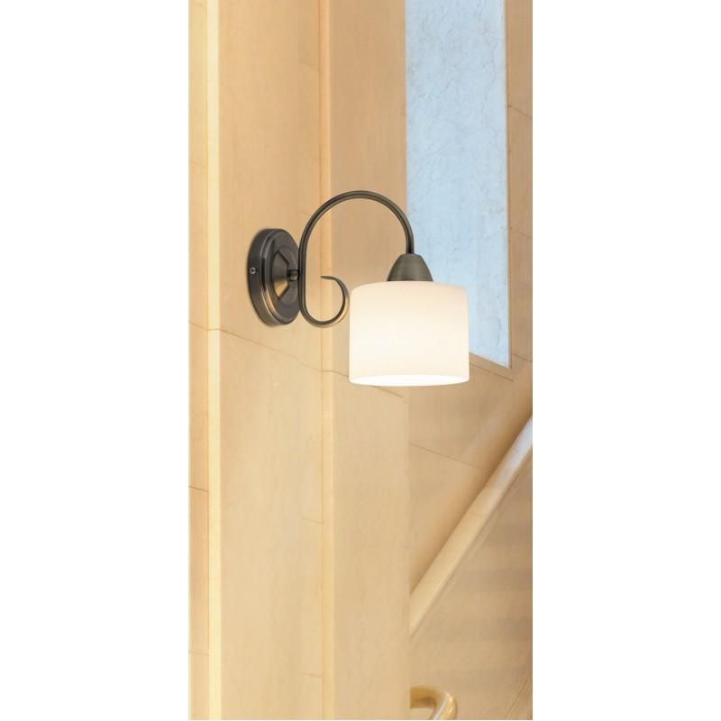 Aplica pentru interior Edith cu structura metalica finisaj bronz si abajur din sticla alb mat 7274 Rabalux