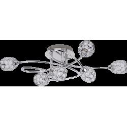 Lustra Elle cu structura metalica si abjur din metal si cristal de sticla 6110 Rabalux