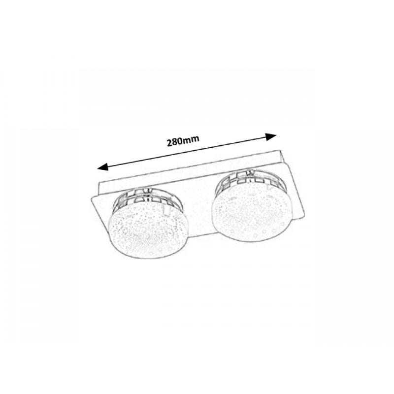 Plafoniera Hilary cu LED cu structura metalica si abajur de sticla 5662 Rabalux