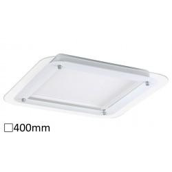 Lampa patrata din metal alb / sticla LORNA 3489 Rabalux