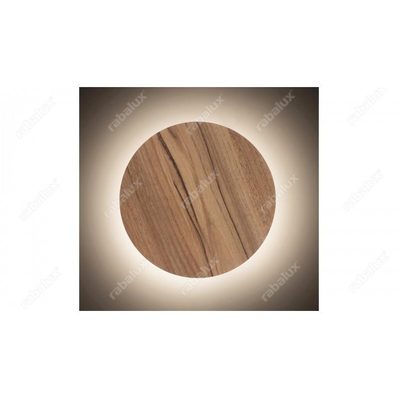 Aplica Marlon cu LED cu structura metalica si dispersor din lemn 1435 Rabalux