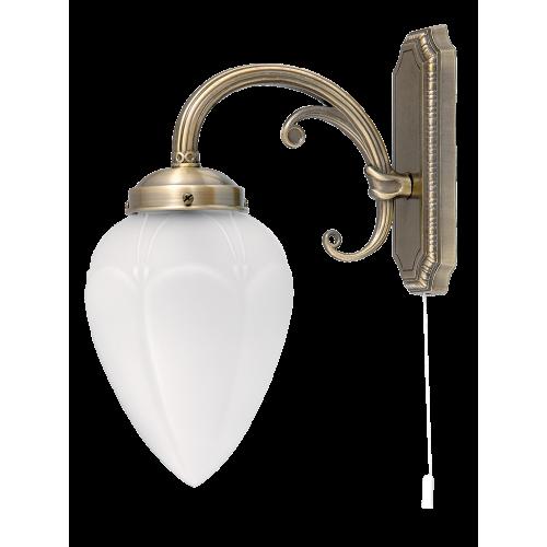 Lampa de perete cu structura metalica si abajur din sticla MAYA 8531