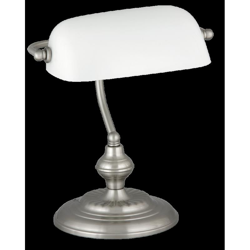 Lampa de birou Bank cu structura metalica si abajur din sticla 4037 Rabalux