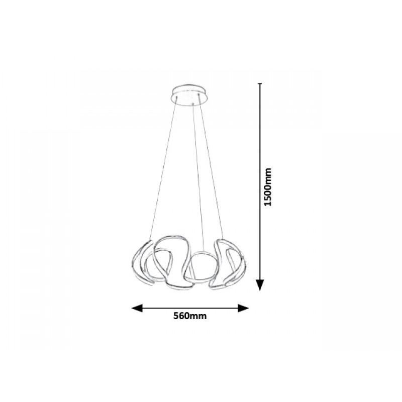 Lustra Palmira cu LED si structura metalica 5770 Rabalux