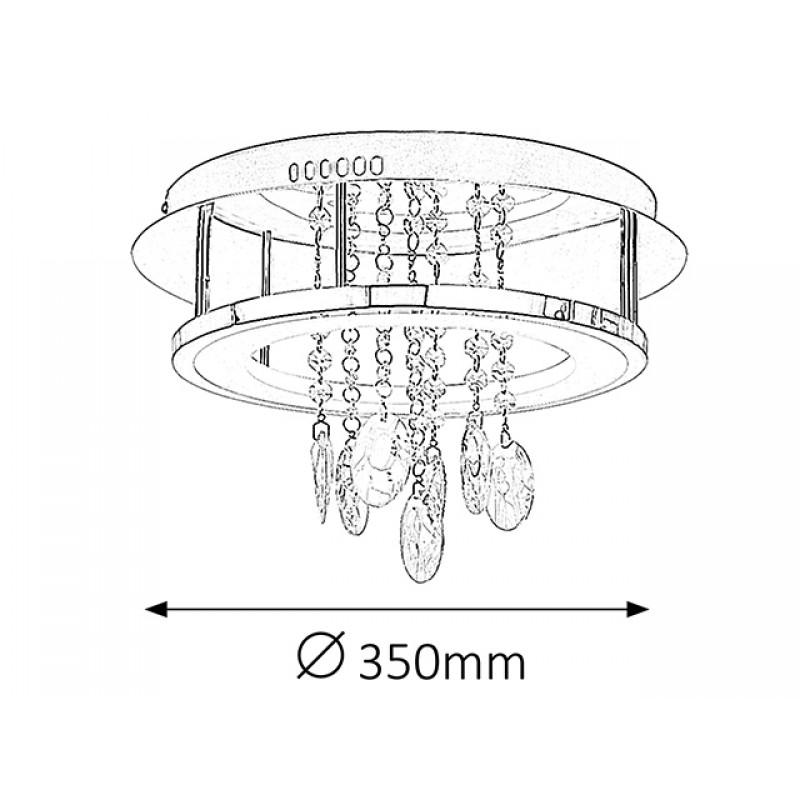Lustra Romina Led cu structura metalica si decoratiuni din cristal 2501 Rabalux