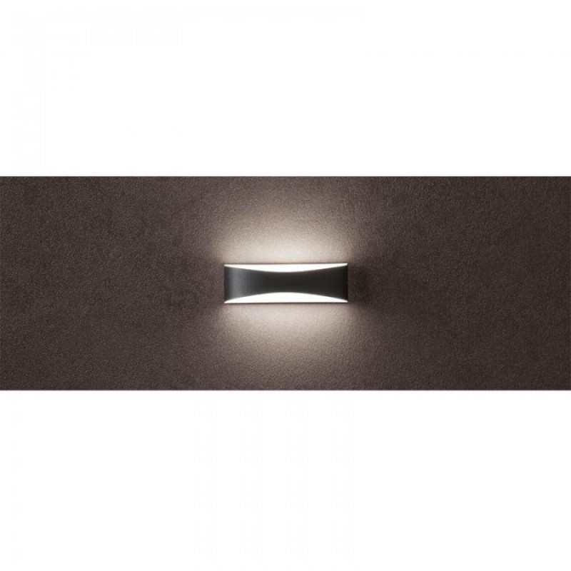 Aplica exterior Axel, gri inchis. LED, 7W, 434 lumeni, 3000K, IP65, 90126 REDO OUTDOOR