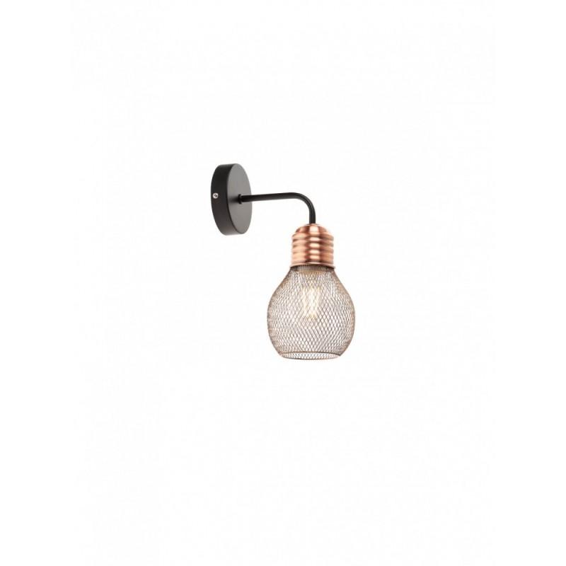 Aplica Edison 01-1575, 1 x E27, negru + cupru
