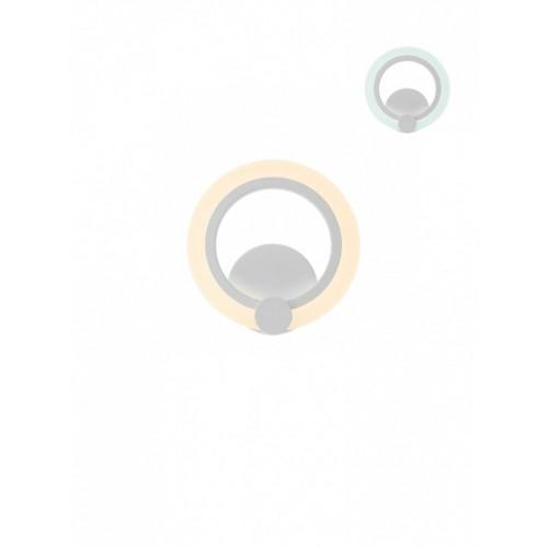 Aplica LED Mercury SWH 01-1762, 12W, 1098lm, lumina calda / rece, alb mat