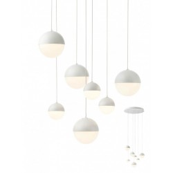 Suspensie LED Lumo 01-2126, 54W, 3726lm, lumina calda, alb mat