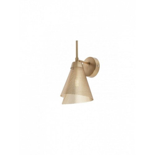 Aplica Indua 01-2192, 1 x E27, metal traforat, aur mat