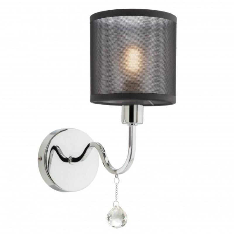 Aplica Bellaria 02-940, 1 x E14, crom + negru