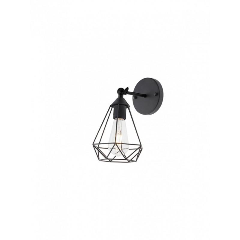 Aplica Krill 01-1387, 1 x E27, negru mat