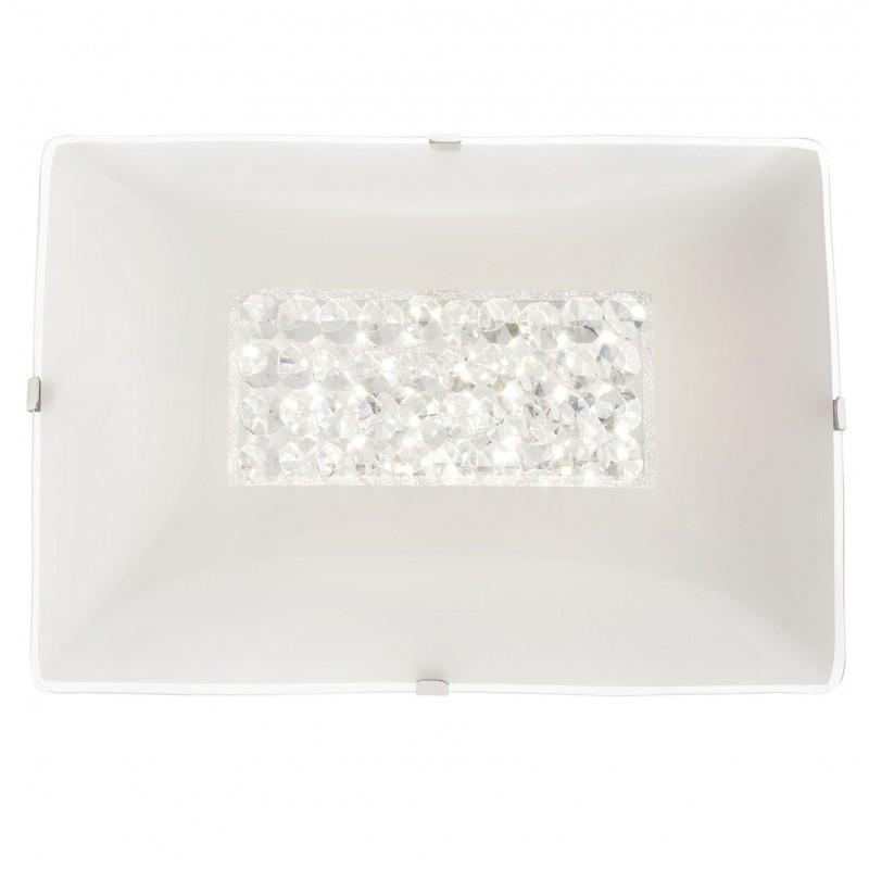 Aplica LED Odiseea 05-909, 10W, 840lm, lumina neutra, decoratiuni din cristal, alba