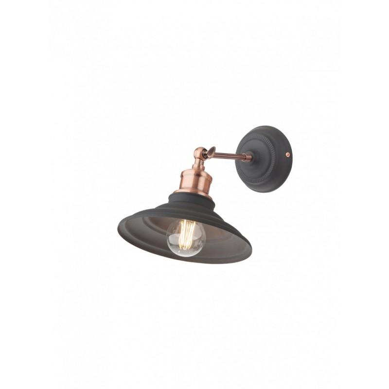 Aplica Spinner 01-1289, 1 x E27, negru + cupru
