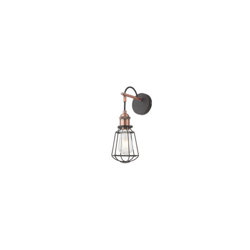 Aplica Tharu 01-1300, 1 x E27, negru mat + cupru antichizat