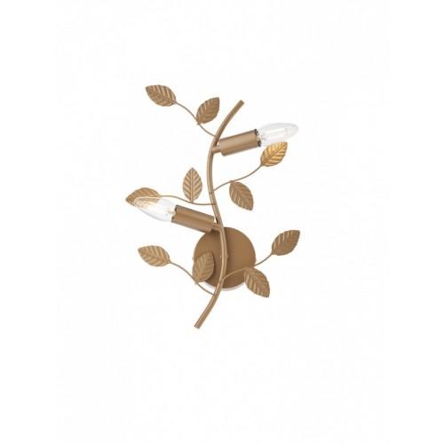 Aplica Tiara 02-978, 2 x E14, bronz antic