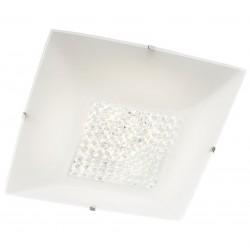 Plafoniera LED Odiseea 05-910, 12W, 904lm, lumina neutra, decoratiuni din cristal, alba