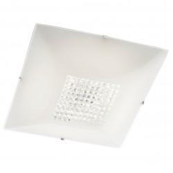 Plafoniera LED Odiseea 05-911, 18W, 1620lm, lumina neutra, decoratiuni din cristal, alba