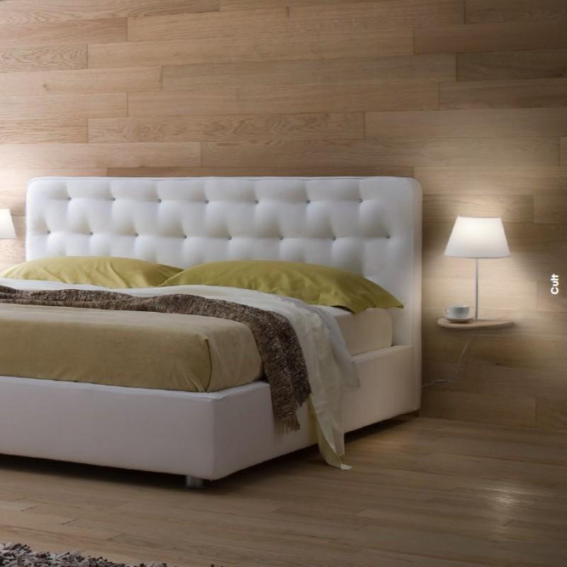 Aplica Cult, lemn natur, textil alb, 1XE27 01-1478 REDO