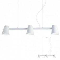 Suspensie Mingo, alb mat, dispersoare orientabile, 3XE27 01-1554 REDO