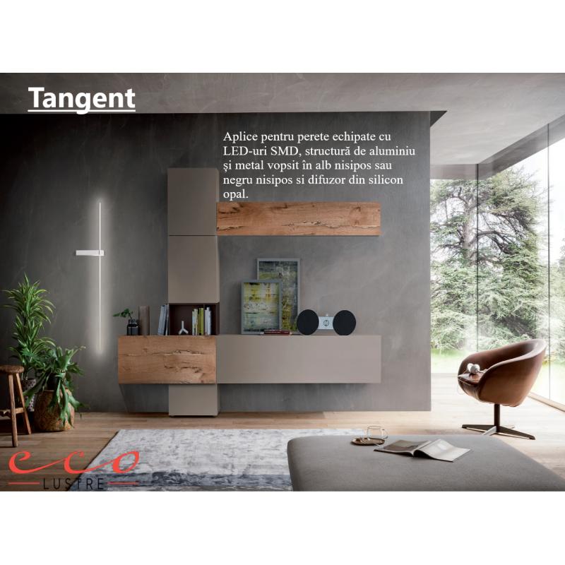 Aplica Tangent, negru mat, LED, 14W, 869 lumeni, alb cald 3000K, 01-2201 Redo