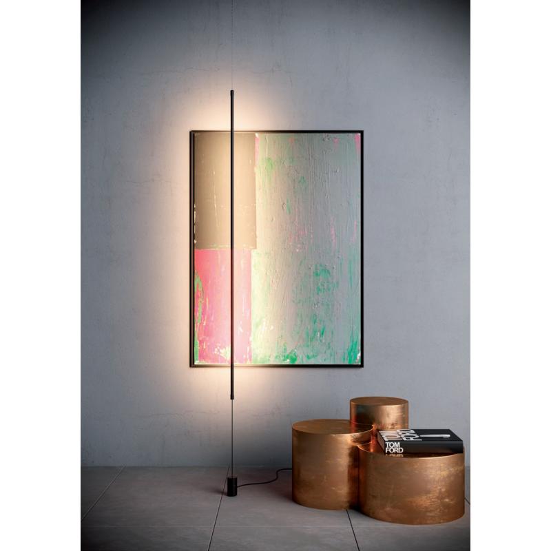 Lampadar Acrobat, negru mat, LED, 34w, alb cald 3000K, 01-2284 REDO