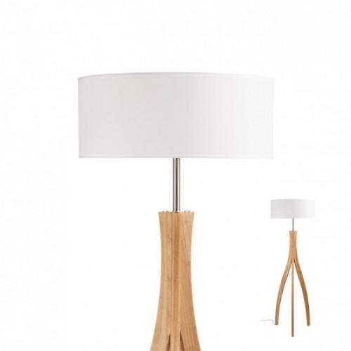 Lampadar Eron, stejar natur, alb, 1XE27 01-1809 REDO