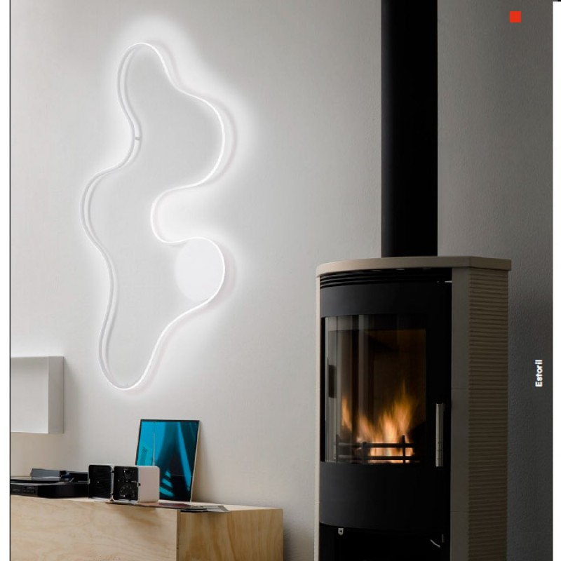 Aplica Estoril, alb mat, LED, 42W, 2150 lumeni, alb cald 3000K REDO