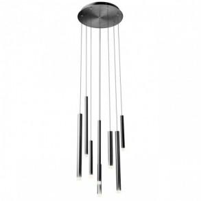 Lustra Redo Madison, negru, LED, 32W, 2176 lumeni, alb cald 3000K, 40 cm, 01-2052