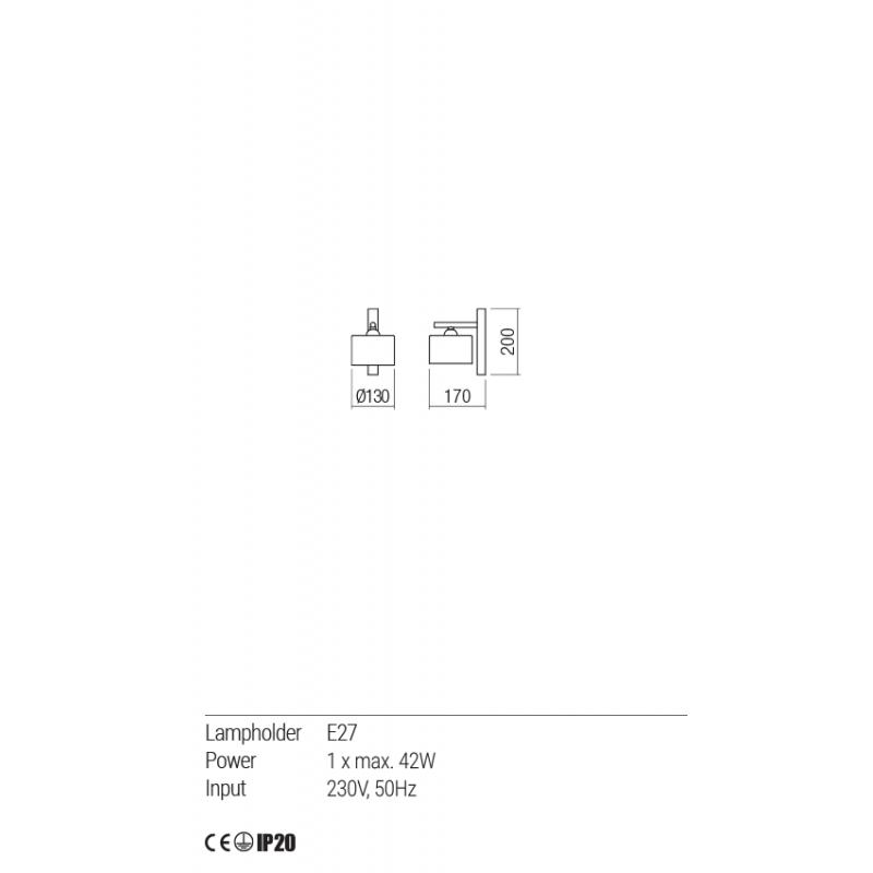 Aplica Miller cu structura metalica 01-1549 Redo